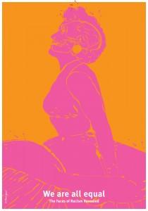 Marilyn Monroe er en af de kendte personer der potræteres. Foto: Dansk Plakatmuseum