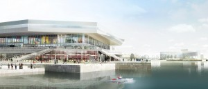 Dokk1 er tegnet af det aarhusianske arkitektfirma Schmidt Hammer Lassen Architects. Illustration: Urban Mediaspace Aarhus.