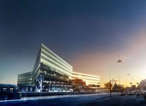 Der er 450 offentlige parkeringspladser under den nye Navitasbygning på Aarhus havn. Illustration: Navitas-park.dk