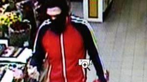 Billedet forestiller den mand, der røvede Netto i Lystrup. Foto: Østjyllands Røveri