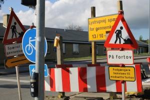 Arkivbillede fra vejarbejde et andet sted i kommunen. foto: Aarhusidag.dk