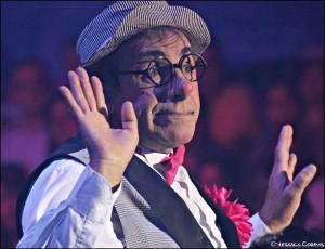 Klovnen Charly Carletto er fra Spanien. han har tidligere været husklovn i det store spanske Cirkus Mundial. Foto: Cirkus Dannebrog
