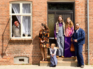 Nogle af beboerne i Viborghuset i Den Gamle By. Foto: Den Gamle By.