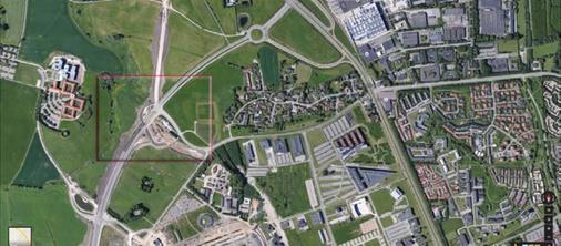 Aarhus Letbane gør klar til letbanen ved den nye del af Paludan Müllers Vej ved Gl. Skejby. Grafik: Aarhus Letbane.