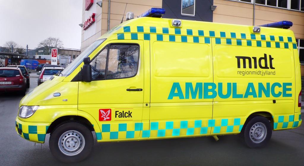 Tre personer på skadestuen efter bilsammenstød. Foto: Region Midtjylland.