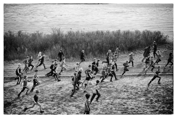 I påsken 2017 deltager alle skolens elever i løbet til fordel for Børnecancerfonden. Foto: Jakob Bødskov/fotovitamin.wordpress.com