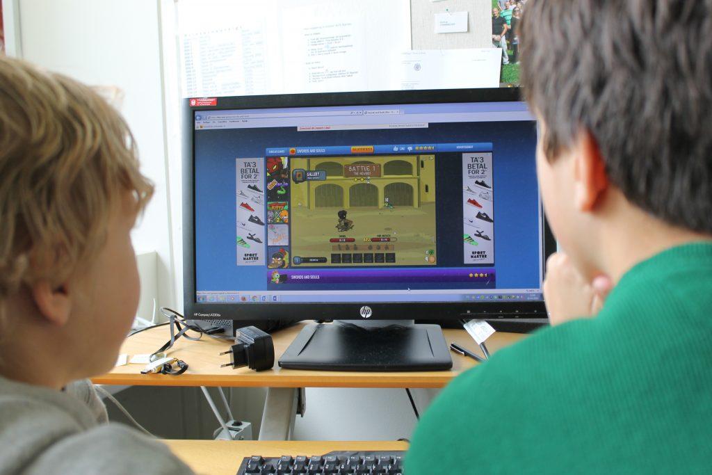 Skæring-elever skal lære at lave computerspil. Foto: Skæring Skole.